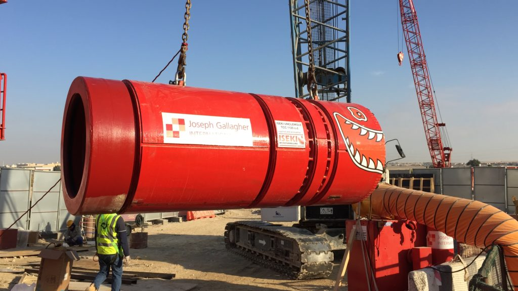 Launch of Microtunneling Machine in Abu Dhabi