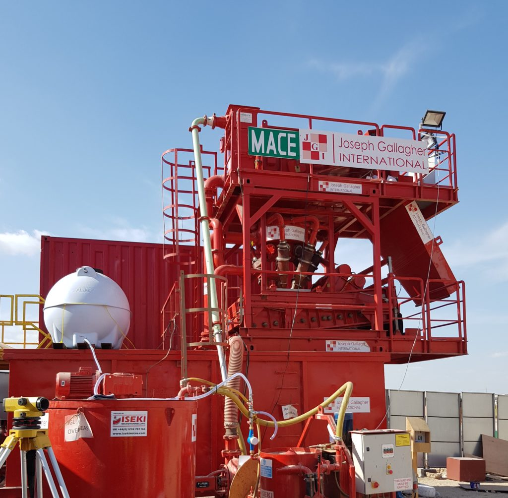 Specialist microtunnelling set-up and support equipment